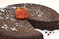 Torta de fango del chocolate Foto de archivo libre de regalías