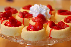 Torta de frutas de la fresa imágenes de archivo libres de regalías