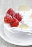 Torta de frutas de la fresa imagen de archivo