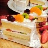 Torta de frutas de la fruta Imágenes de archivo libres de regalías