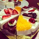 Torta de frutas de la fruta Foto de archivo libre de regalías