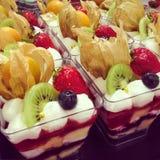 Torta de frutas de la fruta Imagen de archivo