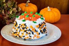 Torta de Halloween Foto de archivo libre de regalías