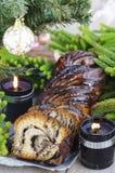 Torta de Krantz del chocolate de la Navidad Fotografía de archivo