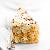Torta de la almendra Foto de archivo libre de regalías