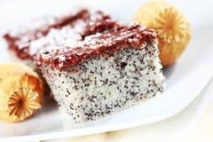 Torta de la amapola Fotografía de archivo