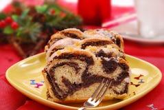 Torta de la amapola para la Navidad Fotografía de archivo