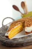 Torta de la calabaza Imagen de archivo libre de regalías