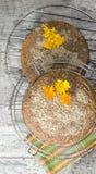 Torta de la calabaza con las nueces condimentadas y molidas Fotografía de archivo libre de regalías