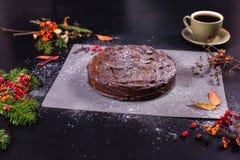 Torta de la calabaza del chocolate imagen de archivo libre de regalías