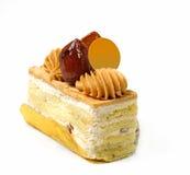 Torta de la castaña dulce foto de archivo
