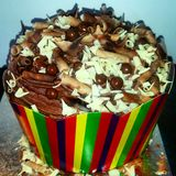 Torta de la celebración del chocolate Imagen de archivo