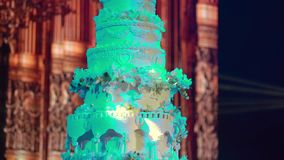Torta de la celebración en la boda metrajes