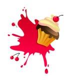 Torta de la cereza Imagen de archivo libre de regalías