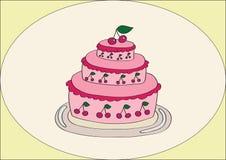 Torta de la cereza Fotografía de archivo libre de regalías