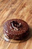 Torta de la crema batida de la avellana del chocolate Imagenes de archivo