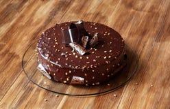 Torta de la crema batida de la avellana del chocolate Imagen de archivo