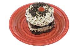 Torta de la crema batida de chocolate Imagen de archivo libre de regalías