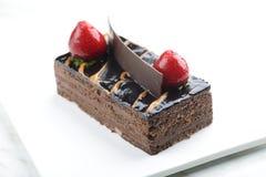 Torta de la crema de la avellana del chocolate fotografía de archivo libre de regalías
