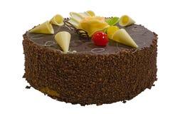 Torta de la crema del chocolate Fotos de archivo libres de regalías