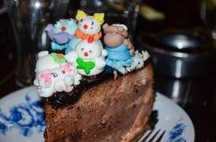 Torta de la fiesta de cumpleaños de los niños Imagen de archivo libre de regalías