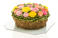 Torta de la flor Imagen de archivo libre de regalías