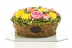 Torta de la flor Foto de archivo libre de regalías