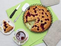 Torta de la frambuesa Fotografía de archivo libre de regalías