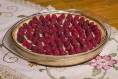 Torta de la frambuesa Imagen de archivo
