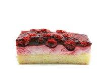 Torta de la frambuesa Foto de archivo libre de regalías
