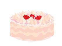 Torta de la fresa stock de ilustración