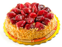 Torta de la fresa Fotografía de archivo