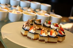 Torta de la fresa del chocolate Fotos de archivo libres de regalías