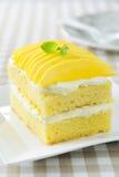 Torta de la fruta con crema de la leche Imagen de archivo libre de regalías