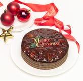 Torta de la fruta de la Navidad Imagen de archivo libre de regalías