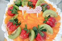 Torta de la fruta del helado. Imagen de archivo libre de regalías