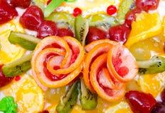 Torta de la fruta, primer Fotos de archivo