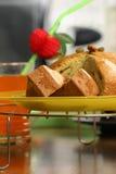 Torta de la fruta y de la pasa Foto de archivo libre de regalías