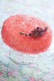 Torta de la gelatina de Rose fotografía de archivo