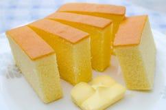 Torta de la mantequilla Imágenes de archivo libres de regalías