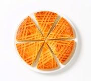 Torta de la mantequilla de la almendra imagenes de archivo