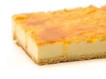 Torta de la manzana con crema Fotografía de archivo libre de regalías