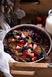 Torta de la migaja de la baya hecha en parrilla imagen de archivo libre de regalías