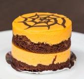 Torta de la naranja y de chocolate fotografía de archivo libre de regalías