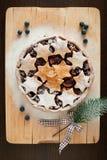 Torta de la Navidad Fotografía de archivo