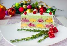 Torta de la Navidad Fotos de archivo