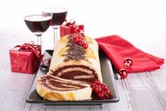 Torta de la Navidad adornada Fotografía de archivo libre de regalías