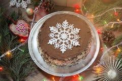 Torta de la Navidad foto de archivo libre de regalías