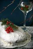 Torta de la Navidad de Stollen foto de archivo