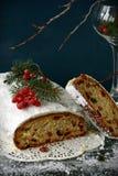 Torta de la Navidad de Stollen foto de archivo libre de regalías